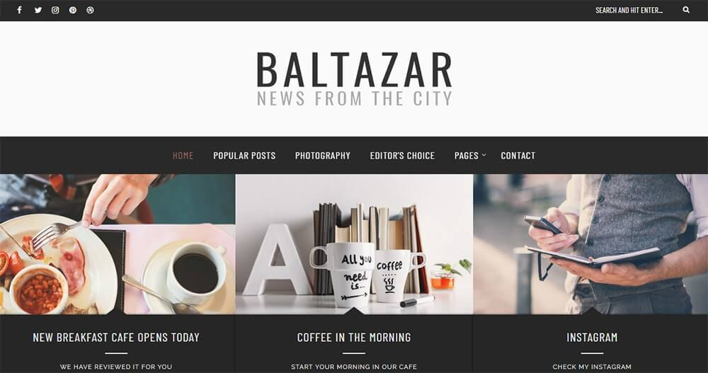 Baltazar WordPress theme