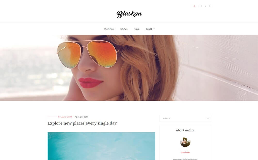 Blaskan Blog Theme