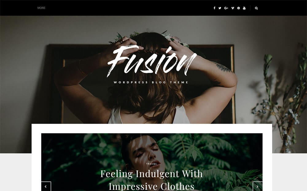 Fusion WordPress Blog Theme