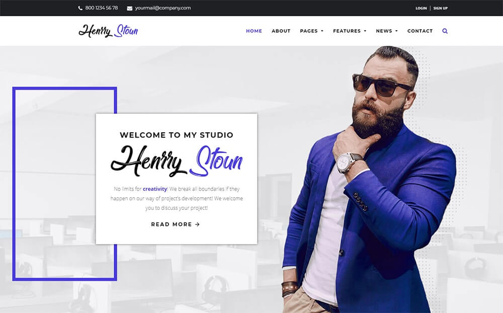Henry Stoun personal Website WordPress Theme