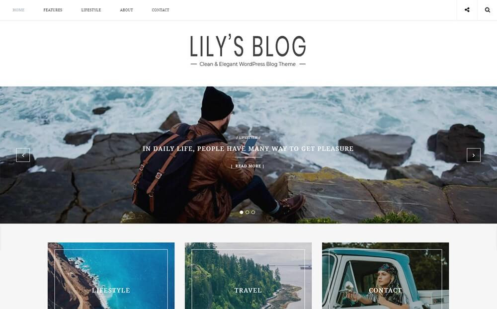 Lily Clean and Elegant Blog WordPress Theme