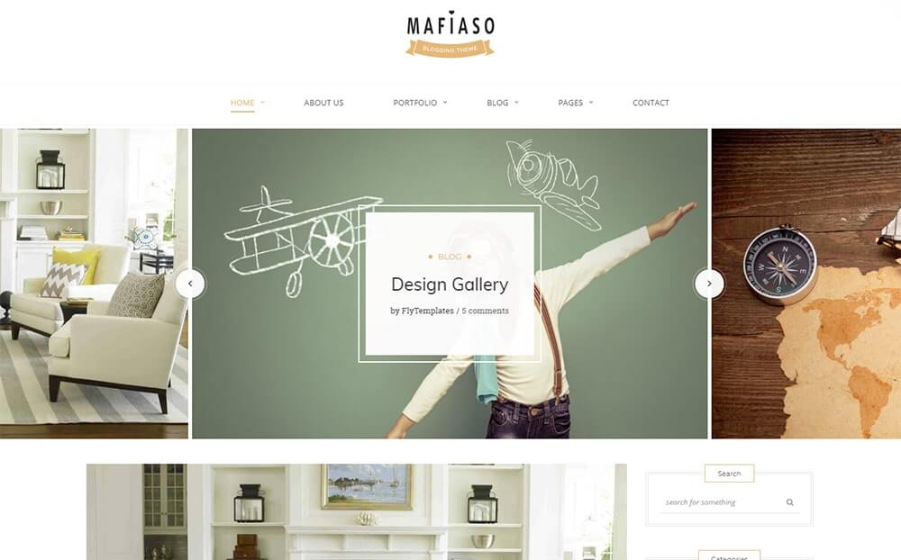 Mafiaso Blog WordPress Theme