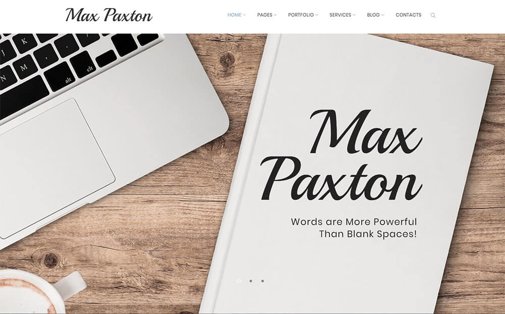 MaxPaxton Freelance Copywriter and Journalist WordPress Theme