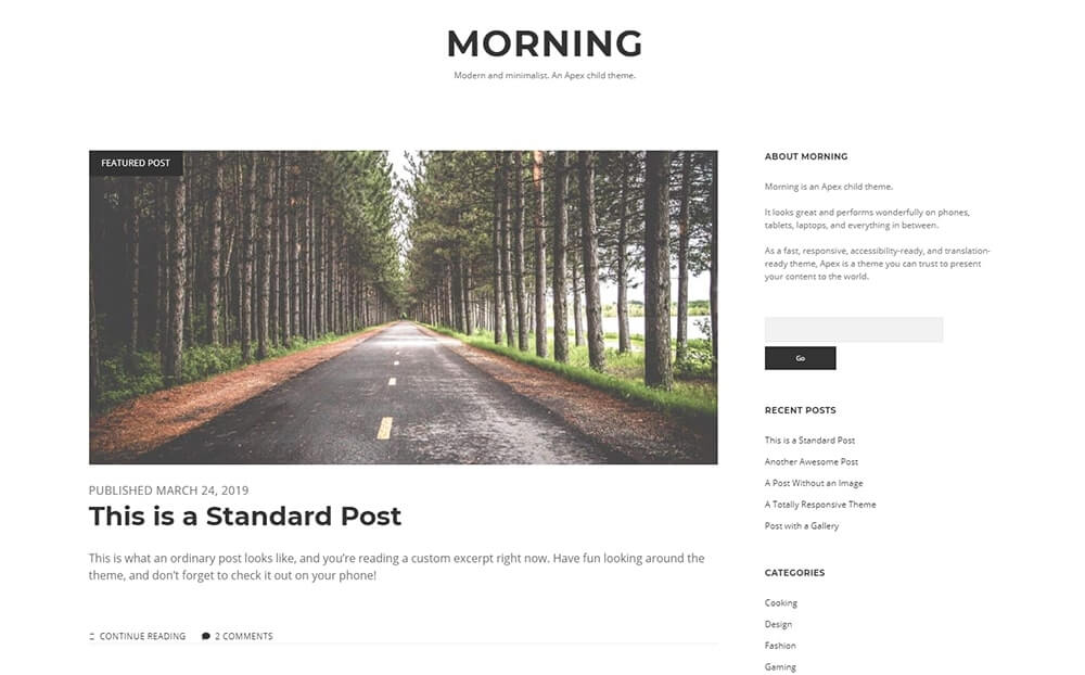 Morning WordPress Theme
