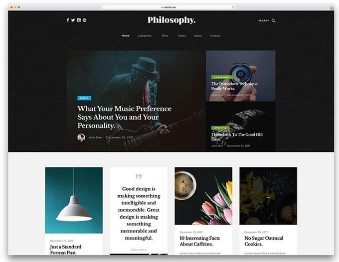 Philosophy WordPress Themes