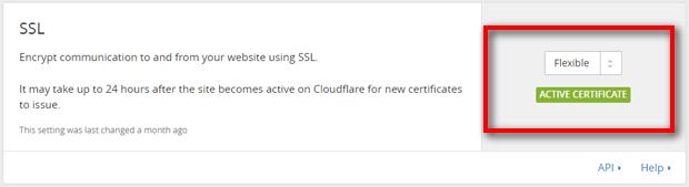 SSL Active Certificate