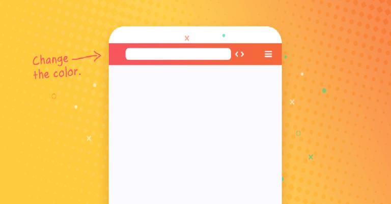 change mobile address bar color in wordpress