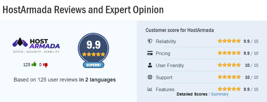 hostarmada user reviews