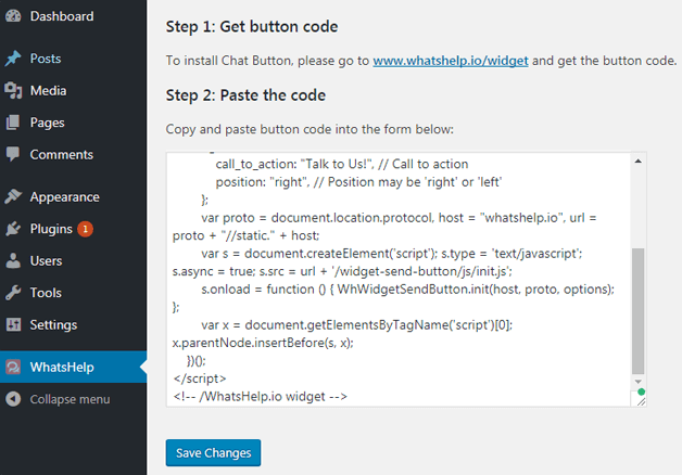 whatshelp code